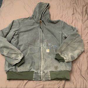 Carhartt Distressed Canvas Jacket Extra Large Tall